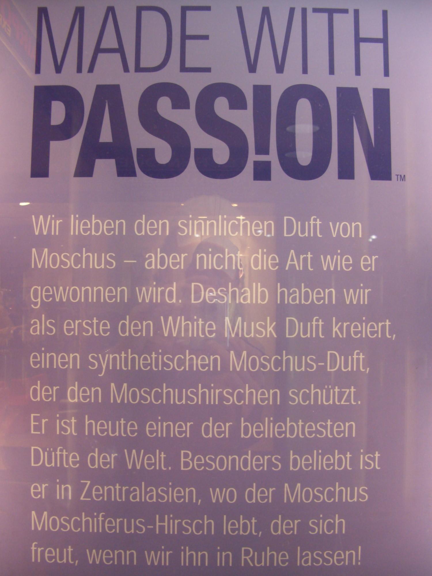 Made with Passion - Wir lieben den sinnlichen Duft von Moschus