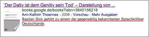 Bastian Sick gehört zu einem der gegenwärtig bekanntesten Sprachkritiker Deutschlands.