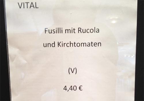Fusilli mit Rucola und Kirchtomaten