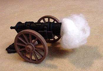 Dernier cri im Terrorgeschäft: Kanonenwatte
